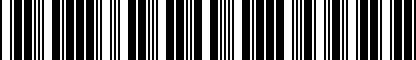 Barcode for 4M0064317
